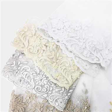Wide Polyester Embroidered Voile Fabric